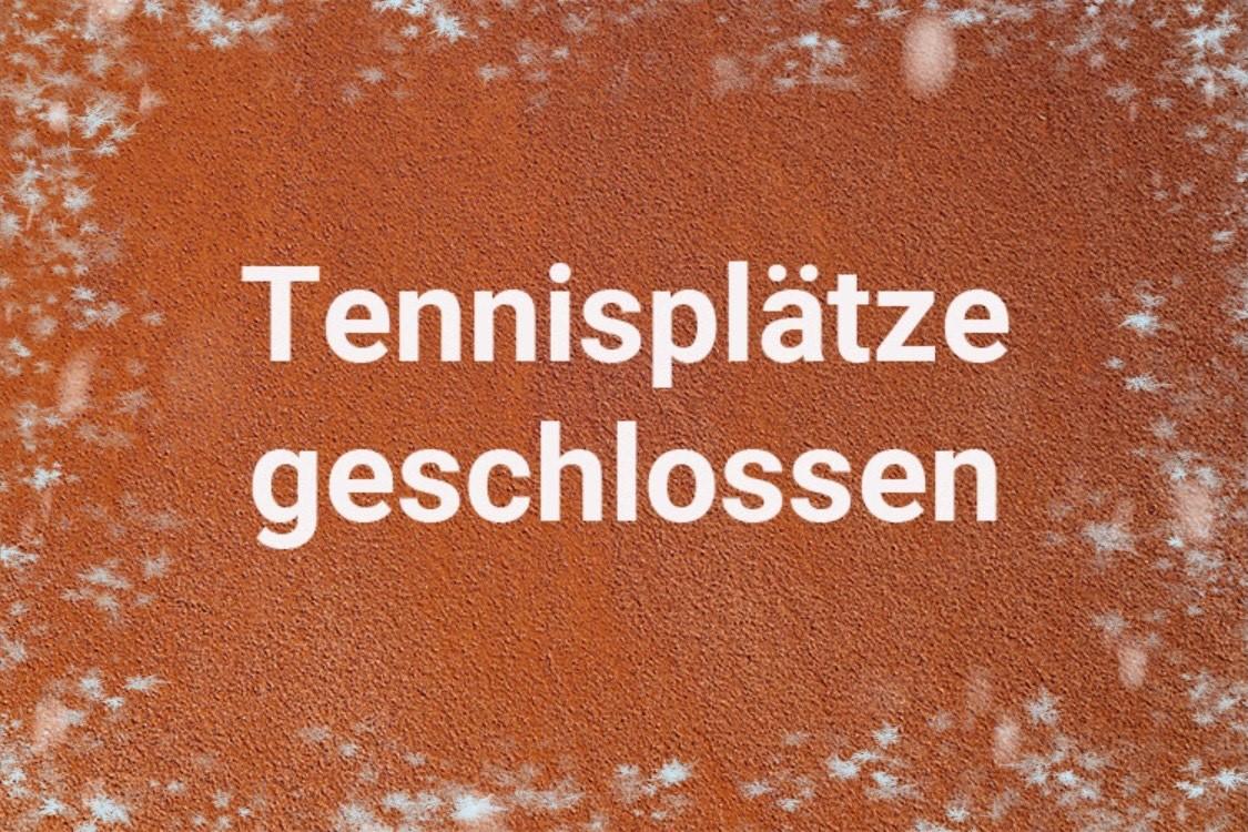 Tennisplätze geschlossen - Padelcourts und Gastronomie geöffnet